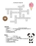 Passé Composé Crossword  (French Past Tense)