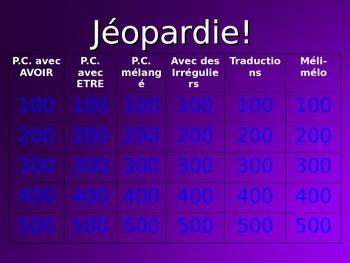 Passé Composé with AVOIR and ETRE : Jeopardy-style Game
