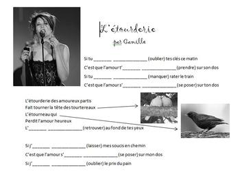 Passé Composé Practice with Music - Camille
