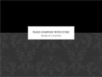 Passé Composé with ETRE : bundle of 6 items