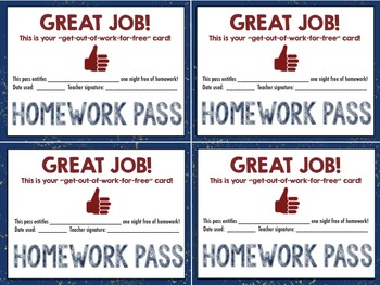 Pass Packet: Hall Passes, Restroom Passes, Homework Passes & More