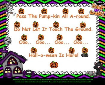 Pass The Pumpkin - A Fun Halloween Rhyme & Game (PPT Edition)