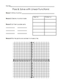Pass and Solve with Linear Equations