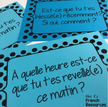 French speaking activity PASSÉ COMPOSÉ REFLEXIVE VERBS