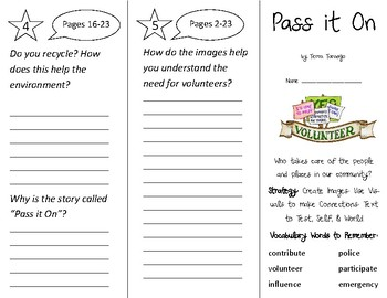 Pass it On Trifold - 2nd Grade Literacy by Design Theme 10