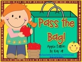 Pass the Bag! Apple Themed Math & Literacy Game