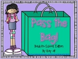 Pass the Bag! Back to School Themed Math & Literacy Game