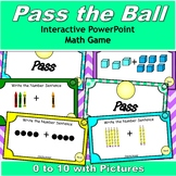 Pass the Ball 0 to 10 Addition with Pictures {5 interactiv