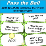 Pass the Ball Back to School Ice Breaker