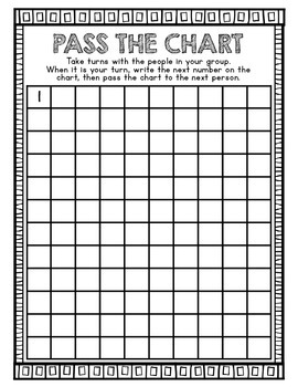 Pass the Chart Numbers to 120 Practice