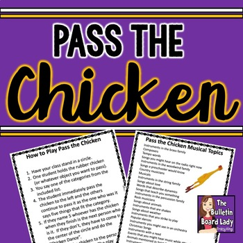 Pass the Chicken - Musical Topics List