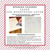 Pass the Crazy Monsters - Engaging Listening Activity for Body Parts - Spanish