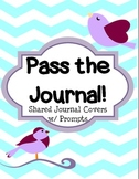 Pass the Journal Cover Pages with Graphic Organizers