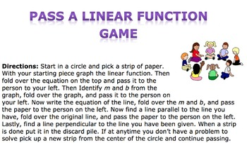 Pass the Linear Function Game