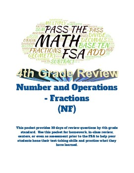 Pass the Math FSA (4th grade): Numbers/Operations - Fractions: 10 days of Review