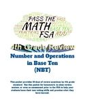 Pass the Math FSA (4th grade): Numbers/Operations in Base Ten: 10 days of Review