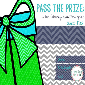 FREEBIE! Pass the Prize: A Fun Following Directions Game