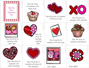 Pass the Prize Following Directions Game: Valentine's Day