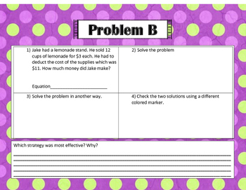 Pass the Problem Two Step Word Problems
