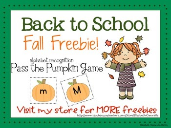 Pass the Pumpkin Letter Recognition Game