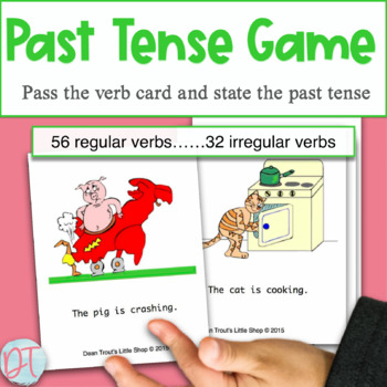 Pass the Verbs: oral use of present and past tense verbs