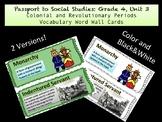 PassPort To Social Studies Grade 4: Unit 3 Vocabulary Word Wall Cards