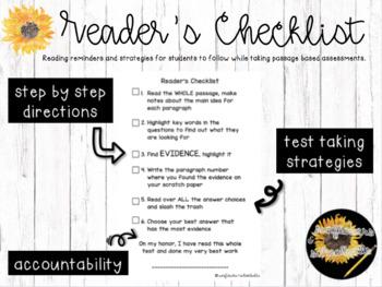 Passage Reader's Checklist
