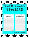 Passage Summary Template