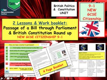 Passage of bill through Parliament UK British Politics GCSE CITIZENSHIP 9-1