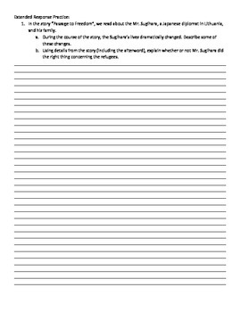 Passage to Freedom - 5th Grade Reading Street Study Guide