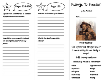 Passage to Freedom Trifold - Imagine It 6th Grade Unit 1 Week 5