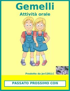 Passato prossimo con essere Gemelli Italian Twins Speaking activity