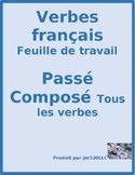Passé Composé ALL verbs French Worksheet 4