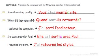 Passe Compose Double Meaning Verbs (AVOIR vs ETRE): French Quick Lesson