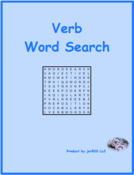 Passé Composé ER French verbs wordsearch