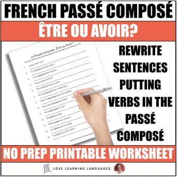 Passé Composé - Être ou Avoir -  French grammar quiz or worksheet