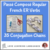 Passé Composé French ER Verbs - Primary French conjugation chains -Cut and paste