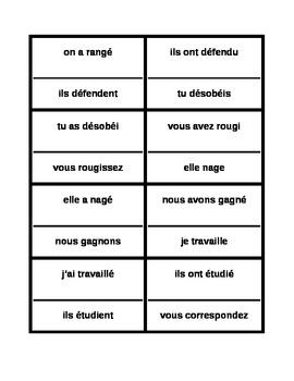 Passé Composé French verbs Cercle magique