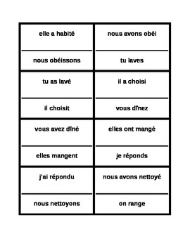 Passé Composé Regular French verbs Cercle magique