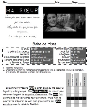 Passé Composé & Imparfait: Sequence of SONGS linked by an original STORY