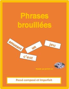Passé Composé et Imparfait French phrases brouillées