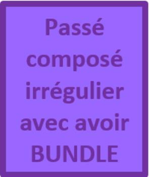 Passé Composé Irregular verbs Bundle