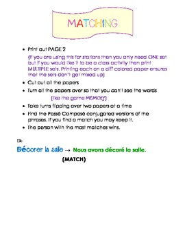 Passe Compose Memory GAME, Bien Dit 2 Chapter 2, Stations