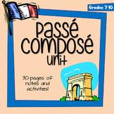 Passé Composé - Printable Notes, Activities, Puzzles, and