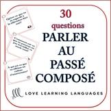 Passé Composé Speaking Task Cards
