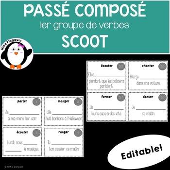 Passé Composé Scoot (verbe du 1re groupe)