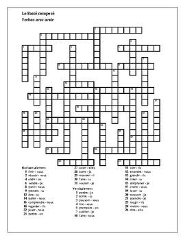 Passé Composé Variety crosswords