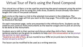 Passé Composé - Virtual Tour of Paris - Action Oriented Approach
