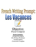 Passe Compose Writing Prompt & Rubric for French students