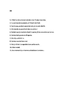 Passe Compose and Imparfait Worksheet: Putting the French Past Tenses Together!